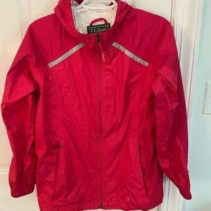 Girls size 14-16 magenta LL BEAN rain jacket